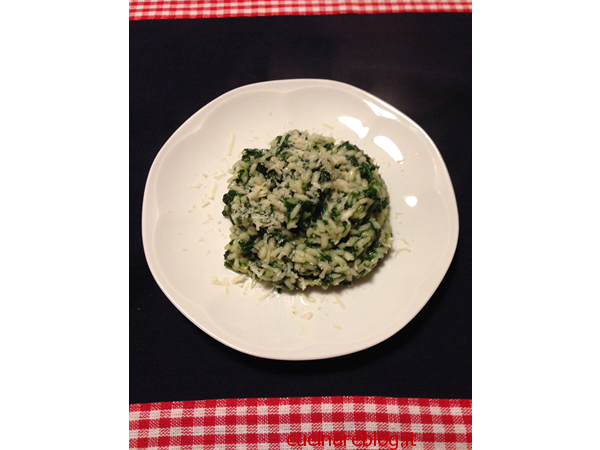 Ricetta del risotto agli spinaci e parmigiano reggiano