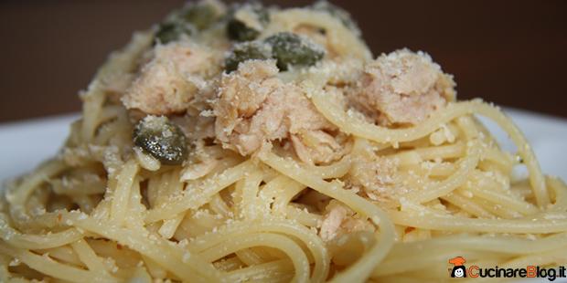 Ricetta di spaghetti tonno capperi e pangrattato