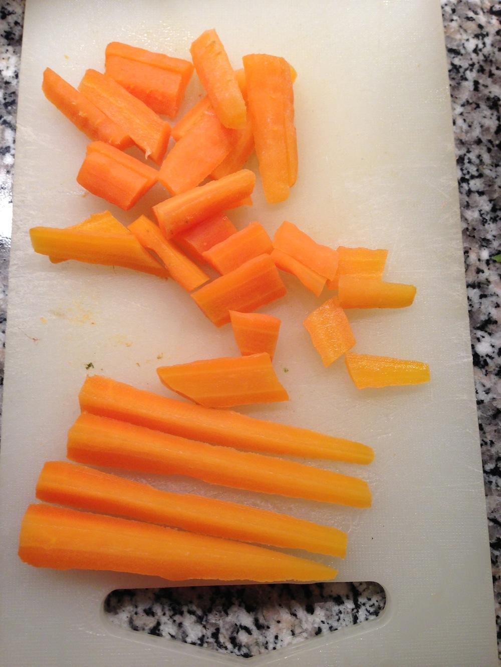 Come tagliare le carote