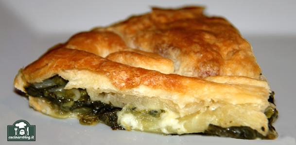 Torta rustica verde con 3 verdure
