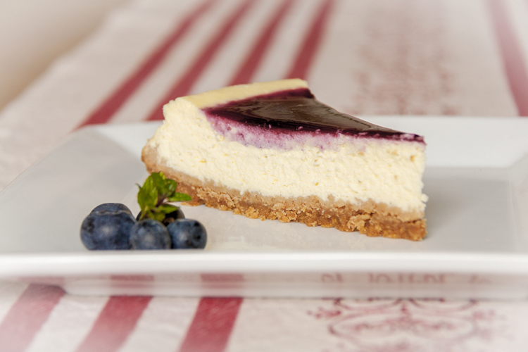 Philadelphia cheesecake ai mirtilli