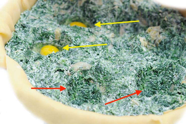 Uova di quaglia nella torta pasqualina