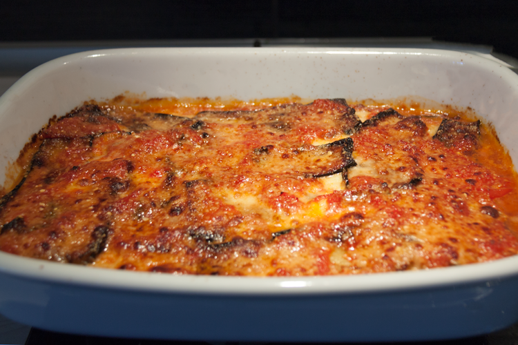 Melanzane alla parmigiana cotte